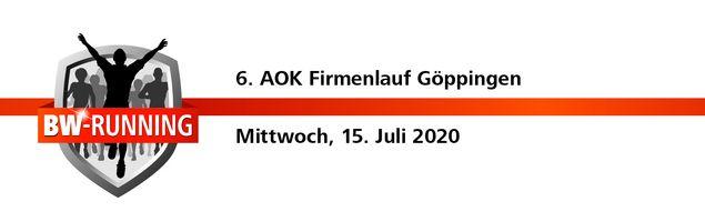 6. AOK Firmenlauf Göppingen am Mittwoch, 15. Juli 2020 - Start: 18:30 Uhr - Dr.-Heinrich-Zeller-Stadion